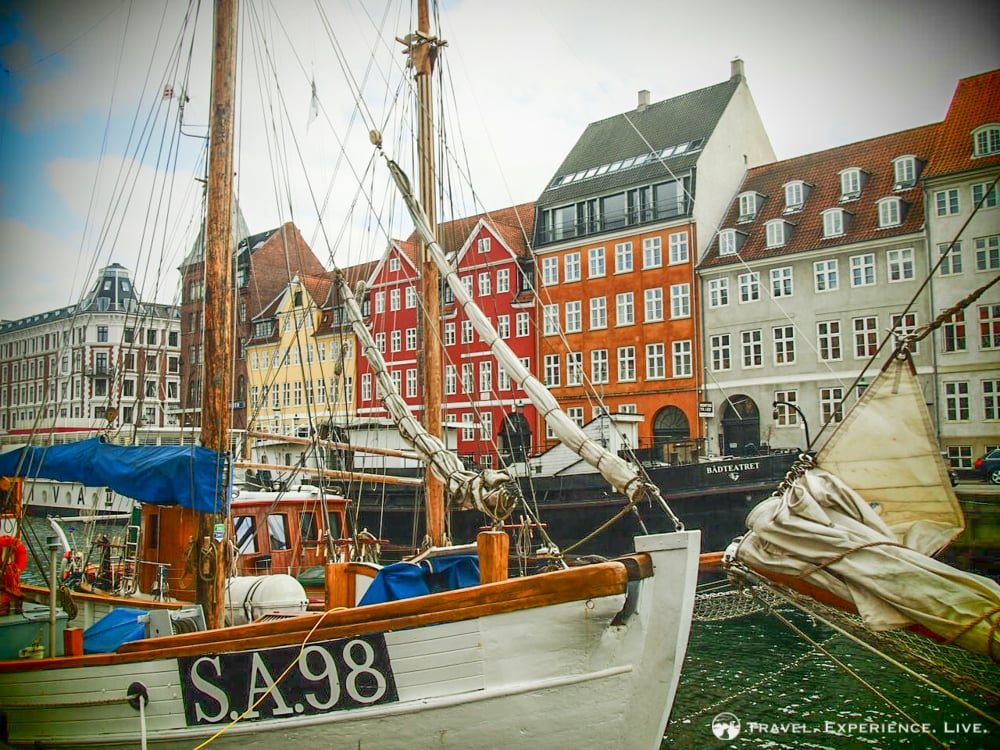Colorful houses and sailboats in Nyhavn