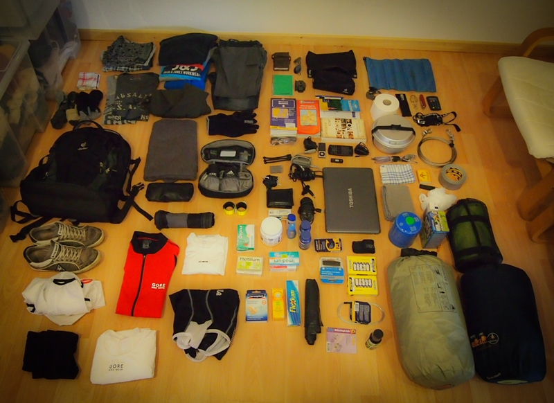My Bicycle Touring Packing List