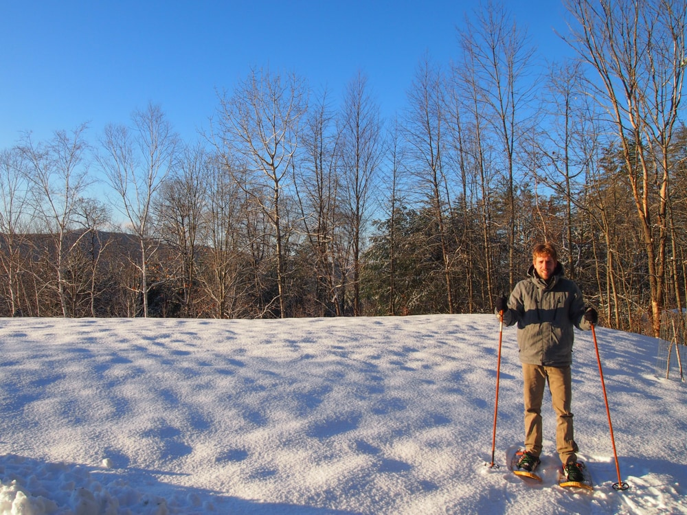 Video: Snowshoeing Across Lake Fairlee