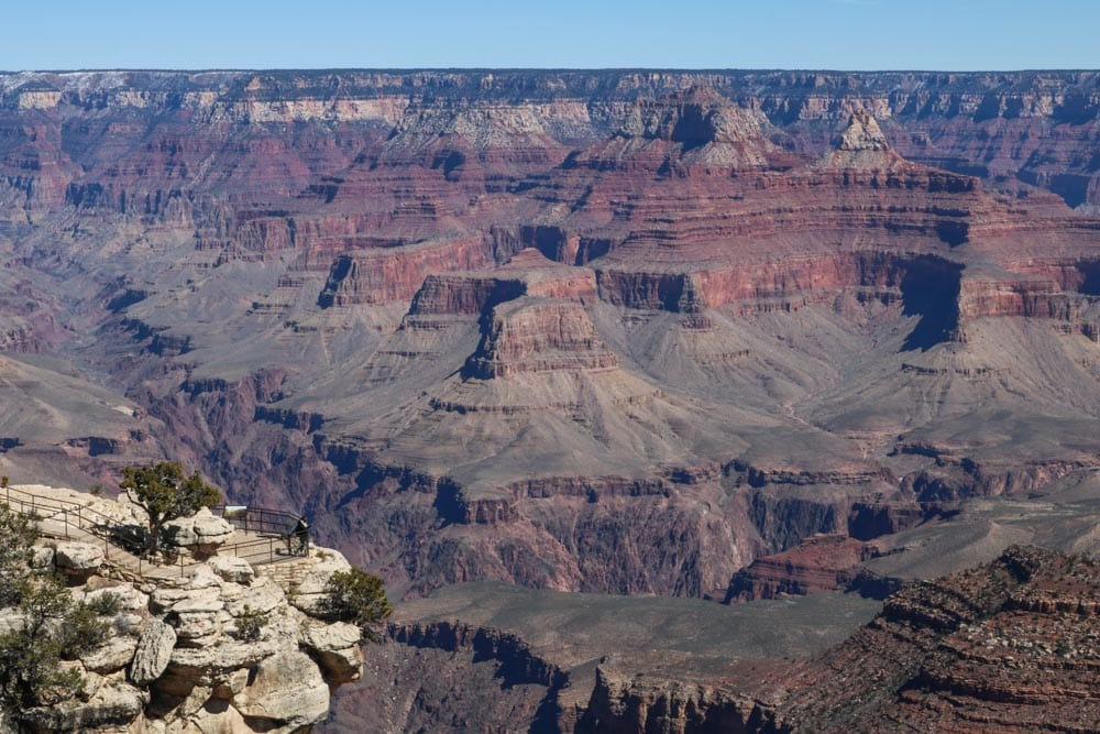 Trailview Overlook viewpoint in Grand Canyon National Park, Arizona