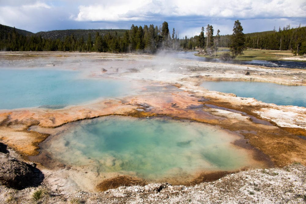 Black Opal Pool at Biscuit Basin, Yellowstone National Park