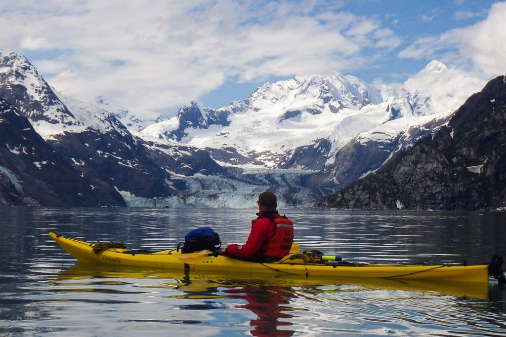 Kayaking in Glacier Bay National Park - Image credit NPS
