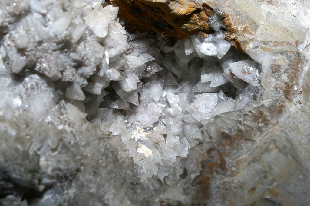Calcite crystal in Jewel Cave National Monument, South Dakota - Image credit NPS